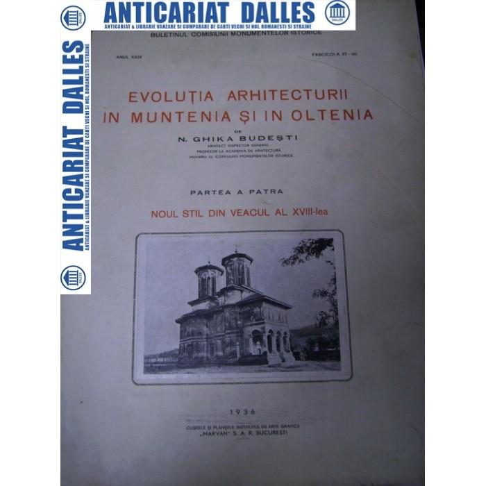 N.Ghika Budesti -Evolutia arhitecturii in Muntenia -volumul 4