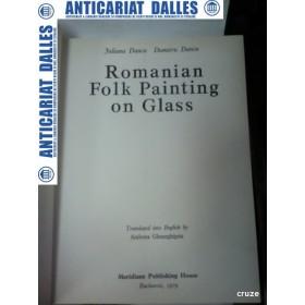 Romanian folk painting on glass -(pictura taraneasca pe sticla) -Iuliana si Dumitru DANCU