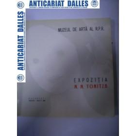 EXPOZITIA  N. TONITZA  -MUZEUL DE ARTA AL RSR Ianuarie-Martie 1964