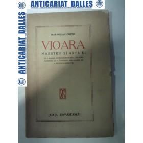 VIOARA - MAESTRII SI ARTA EI - Maximilian Costin -1920