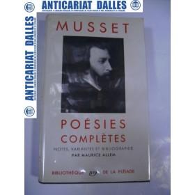 ALFRED DE MUSSET - Poesies completes (Bibliotheque de la Pleiade)