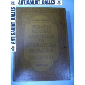 Primele scrieri patristice in literatura noastra (sec.IV-XVI) -Nestor Vornicescu