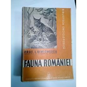 FAUNA ROMANIEI - I.SIMIONESCU