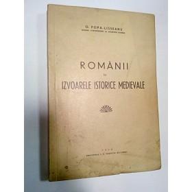ROMANII IN IZVOARELE ISTORICE MEDIEVALE - POPA LISSEANU