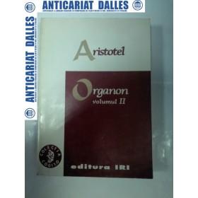 ARISTOTEL - ORGANON - volumul 2 - editia IRI