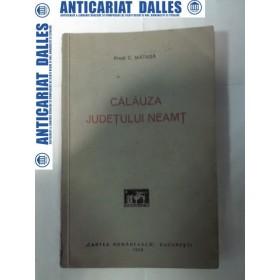 CALAUZA JUDETULUI NEAMT - Preot C.MATASA 1929