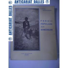 Vasile Alecsandri -Poezii populare ale romanilor -1942