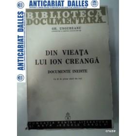 DIN VIEATA LUI ION CREANGA - Documente inedite -Gh.UNGUREANU- 1940