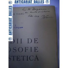 Studii de filosofie si estetica -TUDORVIANU 1939 -(carte cu dedicatia autorului)