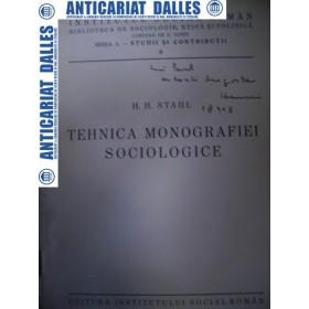 Tehnica monografiei sociologice -H.H.STAHL -1934 ( carte cu dedicatia autorului)