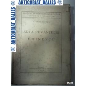 ARTA CUVANTULUI LA EMINESCU - D. CARACOSTEA -1938