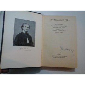 EDGAR ALLAN POE - THE POEMS AND THREE ESSAYS ON POETRY