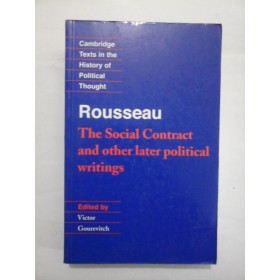 ROUSSEAU  -  The Social  Contract  and other later  political  writings