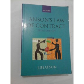 ANSON S LAW OF CONTRACT (28TH EDITION) - J. Beatson